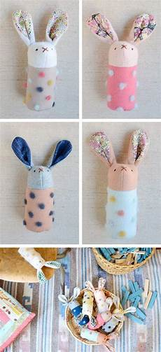 diy projects for gifts diy handmade bunnies softies rabbits rattles toys