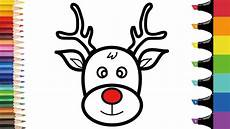 how to draw rudolph step by step easy coloring