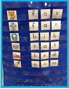Pocket Chart Design Cvc Word Pocket Chart Literacy Center 30 Cvc Words And