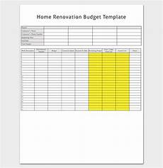 Renovation Budget Template Free Renovation Budget Template 5 Planners Amp Checklists For