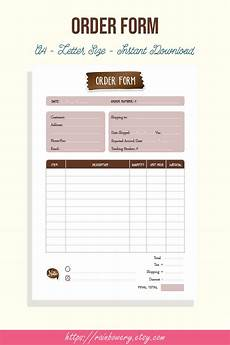 Generic Order Form Order Form Template Printable Small Business Order Form
