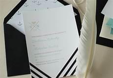 Wedding Invitations Black And White Modern Nautical Black White Wedding Invitations