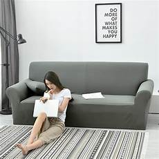 100 polyester waterproof fabric sofa cover solid gray