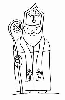 Ausmalbild Bischof Nikolaus Nikolaus Tag Astrid Lindgren Schule Hauneck