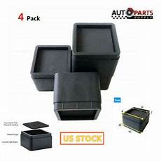4pcs 2 quot inch heavy duty black square bed risers furniture