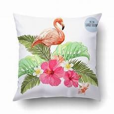 buy pink flamingo birds tropical palm leaves jungle