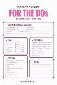Apartment Hunting Checklist Apartment Hunting I Made These Mistakes So You Won T Have