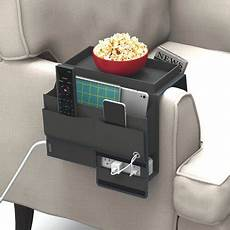 mindfull caddy storage pockets with power tray