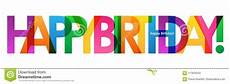Colorful Happy Birthday Banner Colorful Happy Birthday Overlapping Semi Transparent