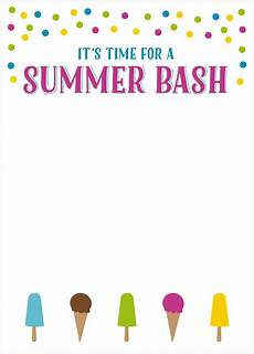 Summer Party Invites Free Summer Party Invitations Somewhat Simple