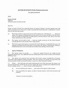 Sample Letter Of Intent To Hire Employee Letter Of Intent To Hire Public Relations Firm