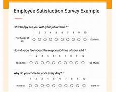 Employee Satisfaction Survey Example Employee Satisfaction Surveys Omnitechpro