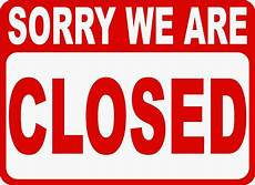 Closed For Business Sign Welcome We Are Open Sorry We Are Closed Two Sided Sign