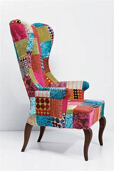 Patchwork Sofa 3d Image by Upholstered High Back Fabric Armchair Patchwork Velvet By