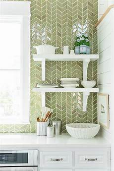 green kitchen backsplash green herringbone tiles backsplash by sacks