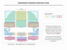 Wicked Seating Chart Gershwin Theatre Gershwin Theater Seating Chart Wicked Seating Guide