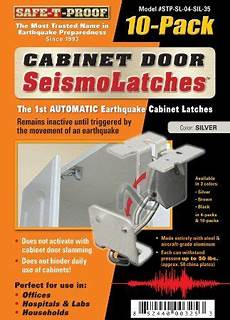 automatic earthquake activated cabinet latch with images