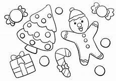 ausmalbilder weihnachten lebkuchenmann und tannenbaum