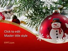 Free Christmas Ppt Templates Free Christmas Adornments Powerpoint Template Free