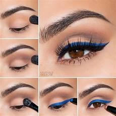 augen make up dezent blau maryam maquillage quot pop of blue quot cat eye makeup