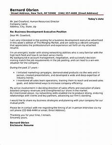 Cover Letter For Business Development Manager 40 Free Cover Letters For Sales And Marketing Jobs