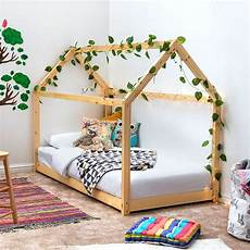 treehouse house style pine wooden bed frame