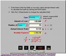 Formula For Loan Interest Calculation Loan Mortgage Formulas