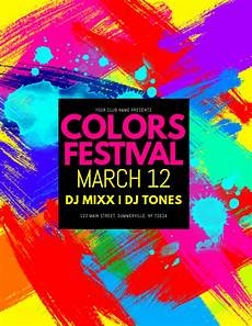 Flyer Color Colors Festival Flyer Template Postermywall