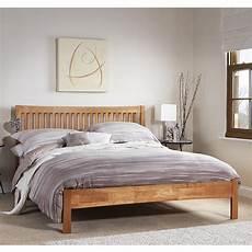 hevea wooden king size bed in honey oak