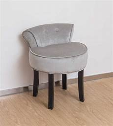 vanity stool in grey with black legs dressing table with