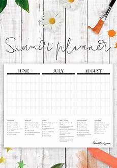 Summer Planner Calendar Summer Calendar Printable With Bucketlist House Mix