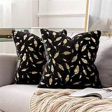 pack of 2 decorative throw pillow covers plush faux fur