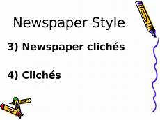 Journalistic Style Newspaper Style Journalistic Style Newspaper