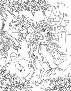 coloring page unicorn princess stock photo