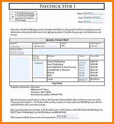 Paycheck Format 5 Paycheck Template Pdf Pay Stub Format