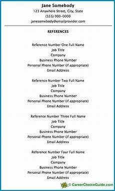 How To Make A Reference Page Resume Reference Page Setup