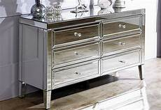 birlea furniture valencia mirrored 6 drawer chest