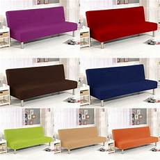 armless sofa bed folding cover fitted elastic stretch