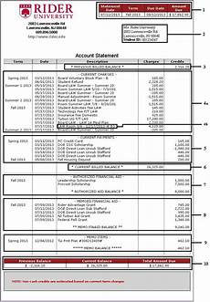 billing statement guides rider university
