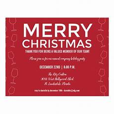 Office Christmas Party Invites Red Office Business Holiday Christmas Party Invite