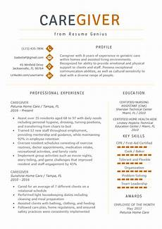 Caregiver Resume Sample My Perfect Resumes Caregiver Resume Example Amp Writing Guide Resume Genius