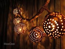 Coconut Shell Lights Wooden Hanging Lamp Coconut Shell Night Light Chandelier
