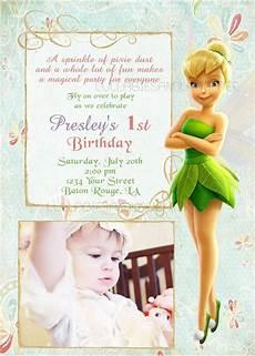 Tinkerbell 1st Birthday Invitations Tinkerbell Birthday Invitation Tinkerbell By