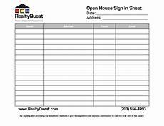 Sign In Sheet For Open Houses 30 Open House Sign In Sheet Pdf Word Excel For Real
