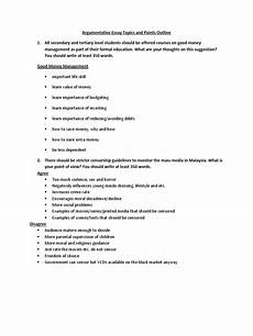 Mass Media Essay Topics Muet Argumentative Essay Topics And Points Outline Mass