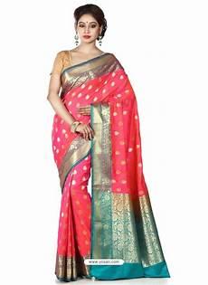 buy flawless dark peach banarasi silk saree designer sarees