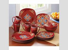 Better Homes and Gardens Medallion 16 Piece Square