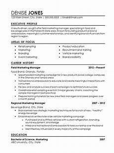 Resume For Food Industry Regional Marketing Good Resume Examples Marketing