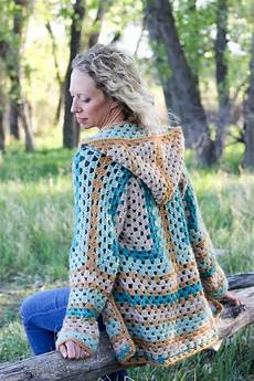 the cfire cardigan free crochet hexagon sweater pattern