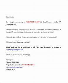 Farewell Dinner Invitation Letter Free 32 Examples Of Invitation Letter Templates In Pdf